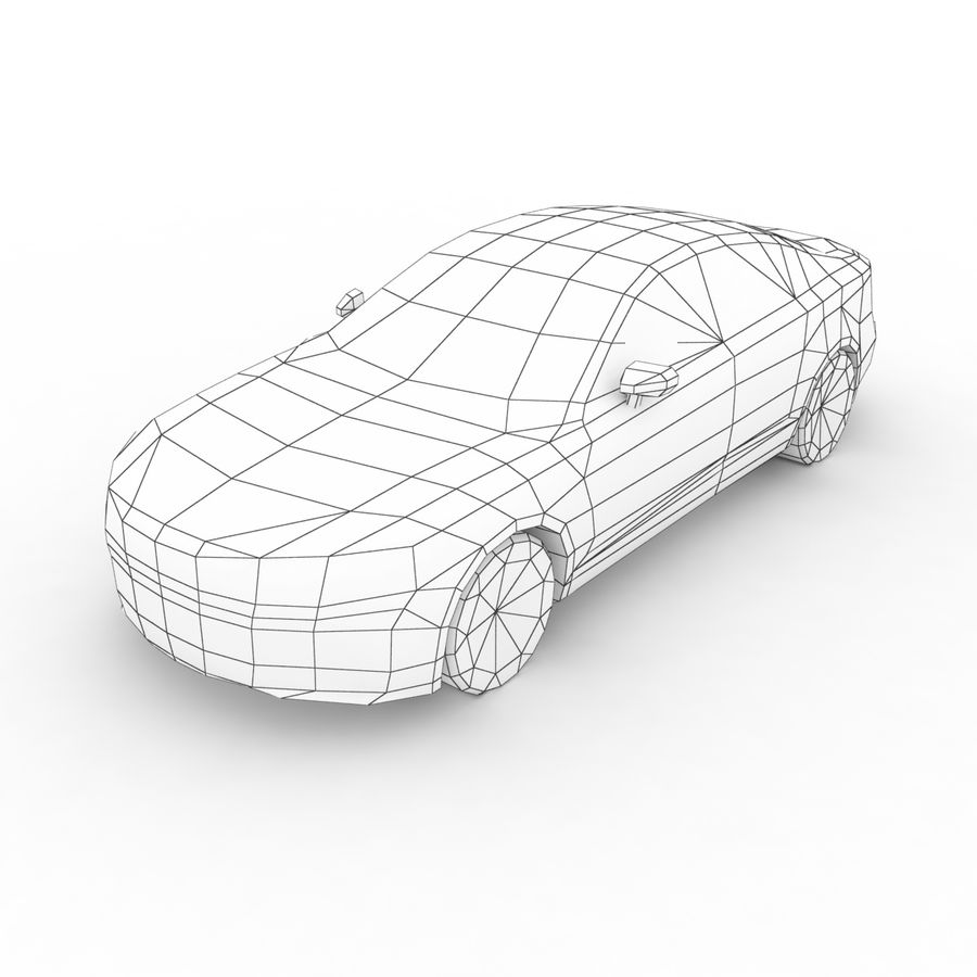 Volvo S90 2017 royalty-free 3d model - Preview no. 7