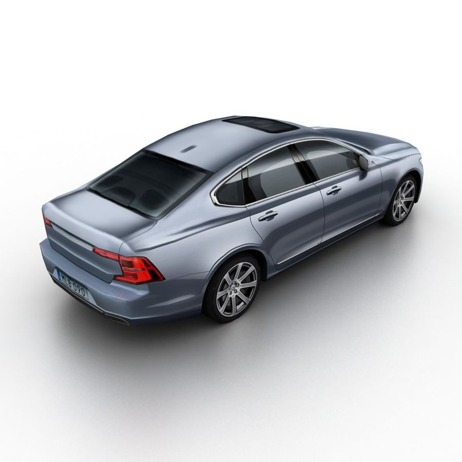 Volvo S90 2017 royalty-free 3d model - Preview no. 2