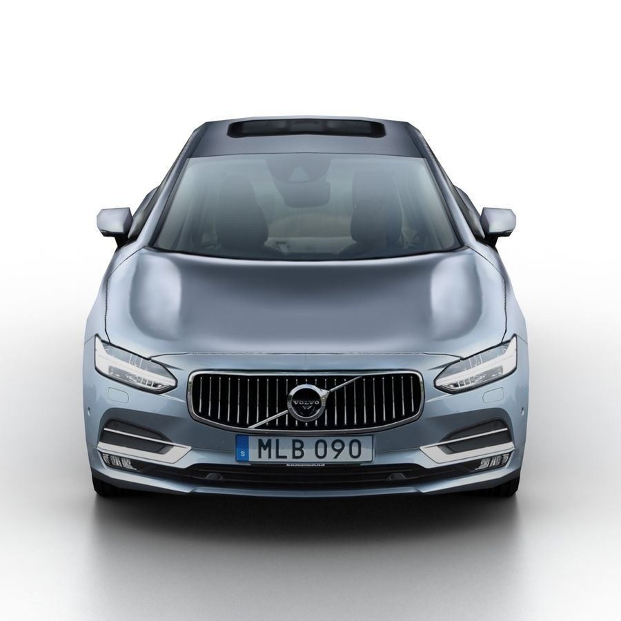 Volvo S90 2017 royalty-free 3d model - Preview no. 4
