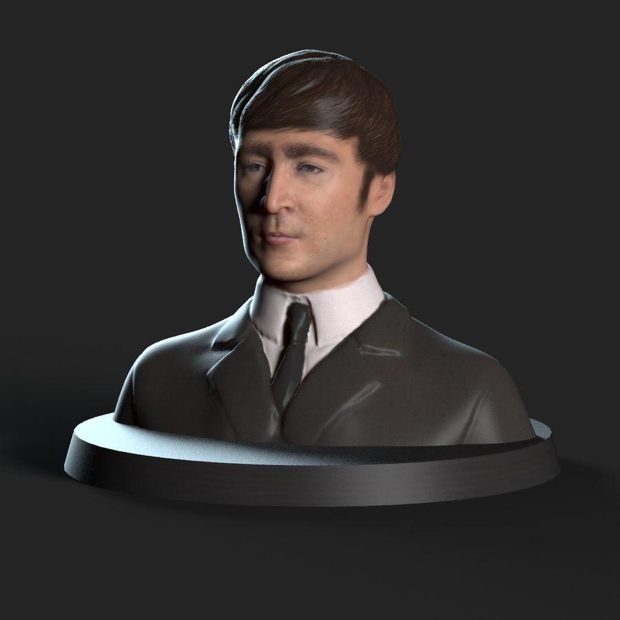 Джон Леннон 3D Печать royalty-free 3d model - Preview no. 3