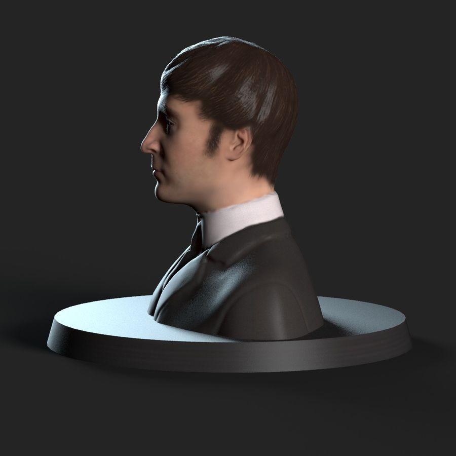 Джон Леннон 3D Печать royalty-free 3d model - Preview no. 4
