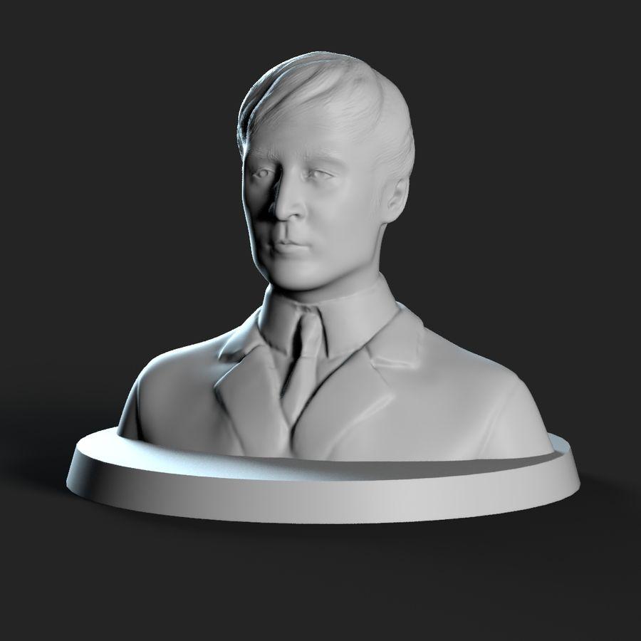 Джон Леннон 3D Печать royalty-free 3d model - Preview no. 7