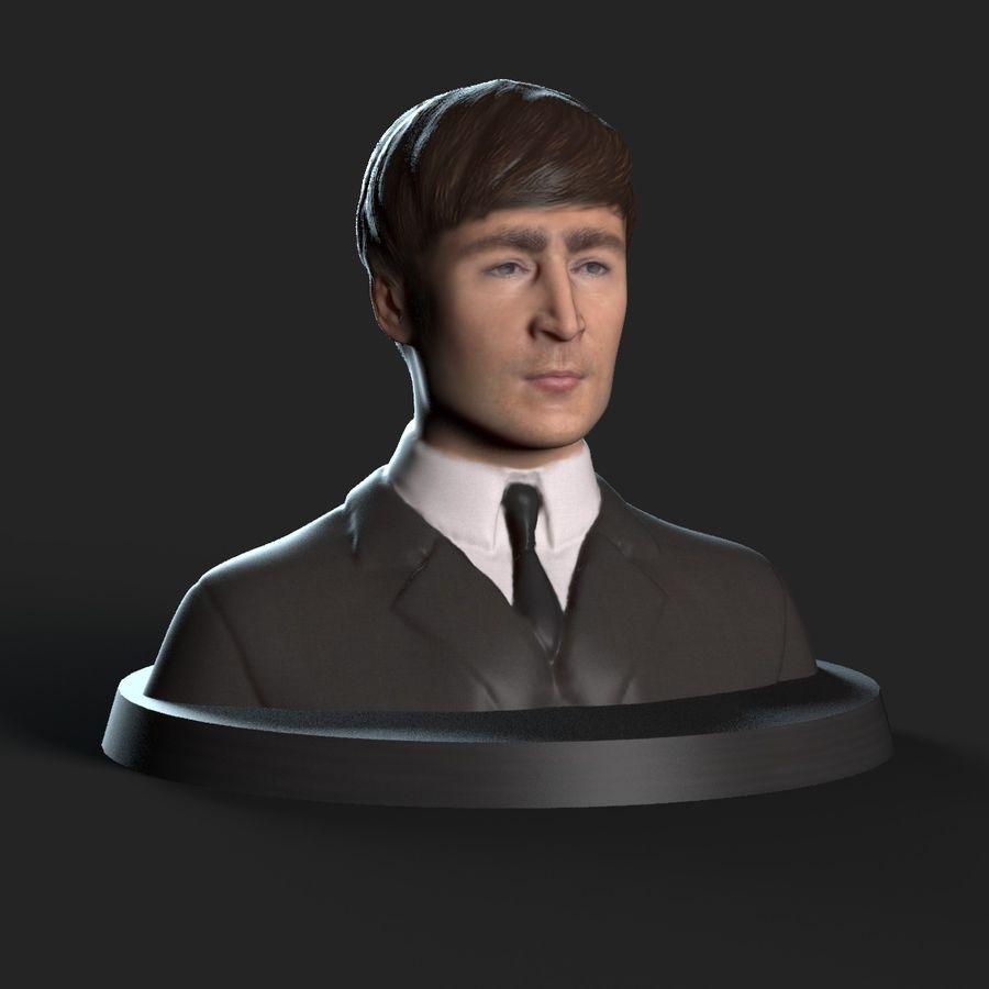 Джон Леннон 3D Печать royalty-free 3d model - Preview no. 5