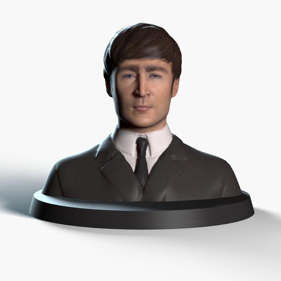 Джон Леннон 3D Печать royalty-free 3d model - Preview no. 1