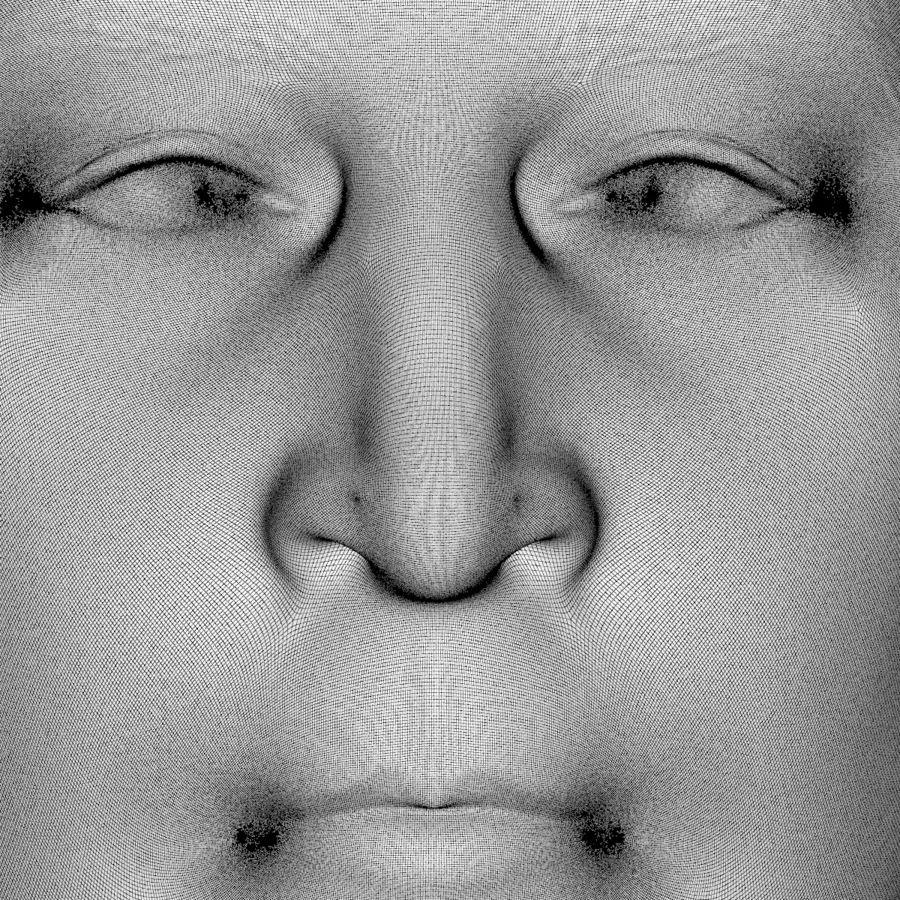 Джон Леннон 3D Печать royalty-free 3d model - Preview no. 12