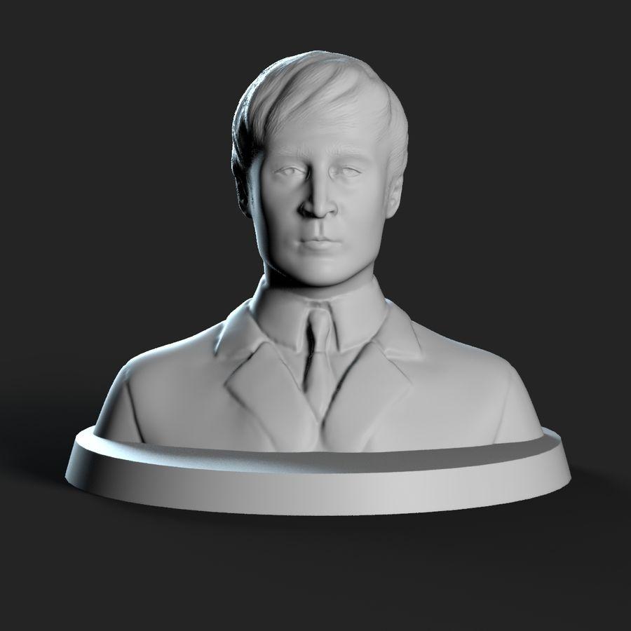 Джон Леннон 3D Печать royalty-free 3d model - Preview no. 6