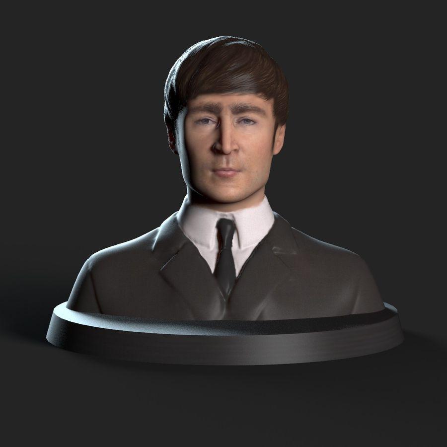Джон Леннон 3D Печать royalty-free 3d model - Preview no. 2