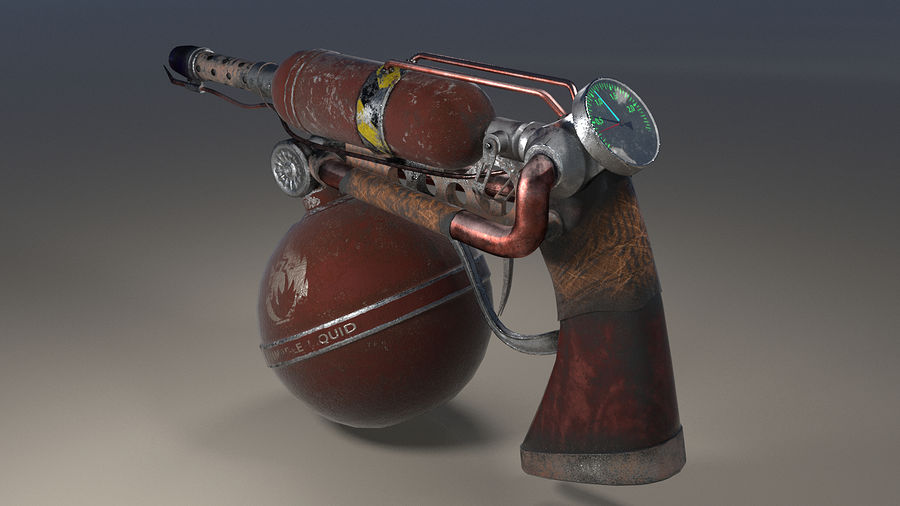 FlameThrower royalty-free 3d model - Preview no. 3