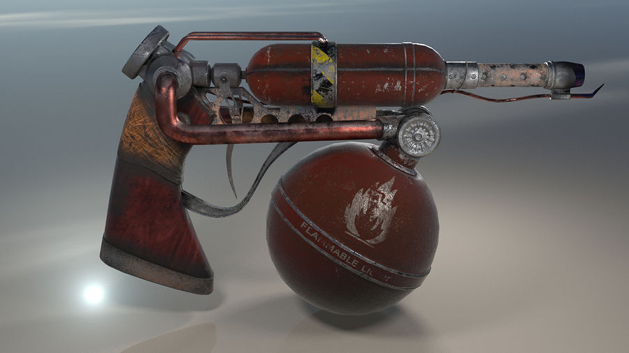 FlameThrower royalty-free 3d model - Preview no. 7