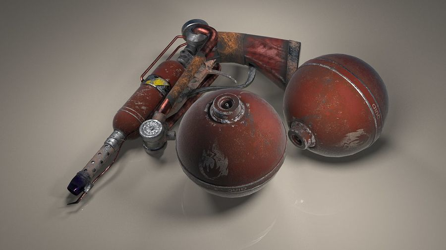 FlameThrower royalty-free 3d model - Preview no. 8