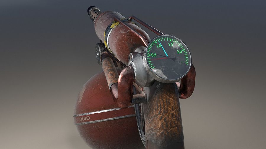 FlameThrower royalty-free 3d model - Preview no. 4