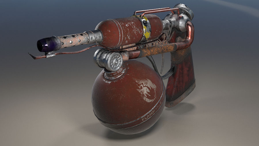 FlameThrower royalty-free 3d model - Preview no. 1
