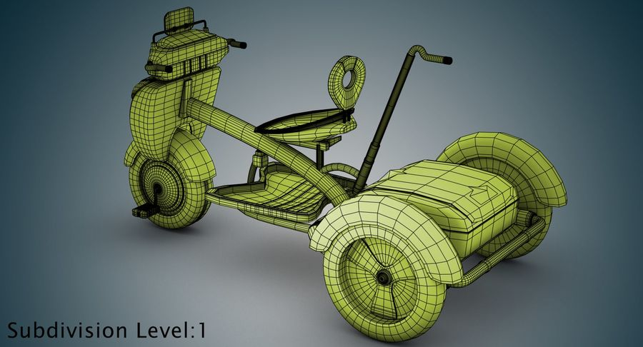 Kinderen driewieler royalty-free 3d model - Preview no. 32
