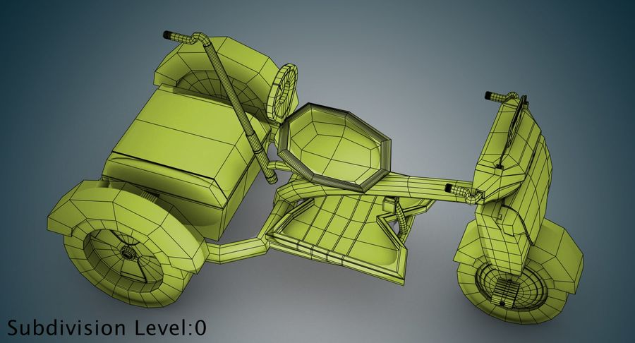 Kinderen driewieler royalty-free 3d model - Preview no. 29