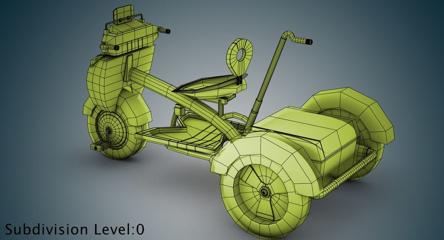 Kinderen driewieler royalty-free 3d model - Preview no. 27