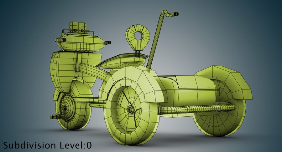 Kinderen driewieler royalty-free 3d model - Preview no. 30