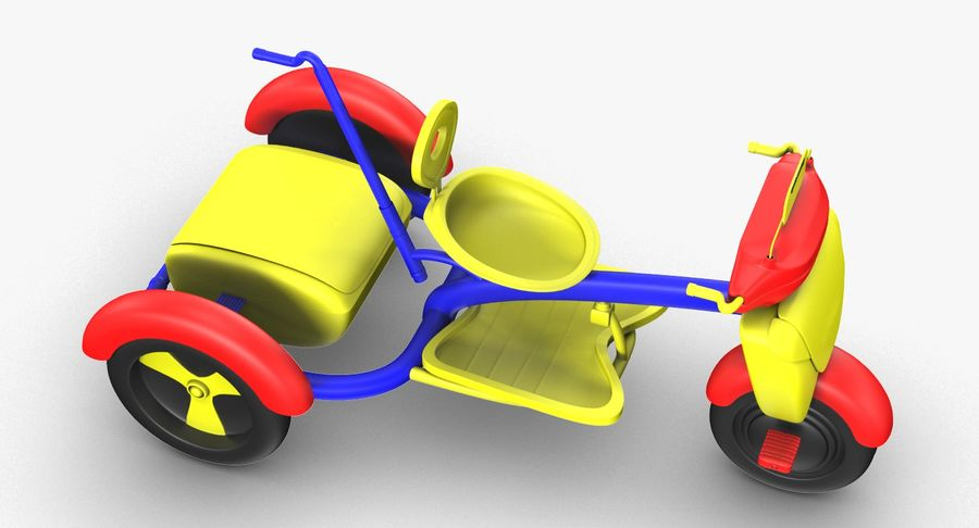 Kinderen driewieler royalty-free 3d model - Preview no. 11