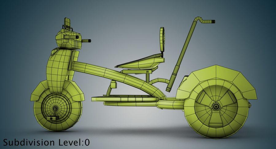 Kinderen driewieler royalty-free 3d model - Preview no. 28