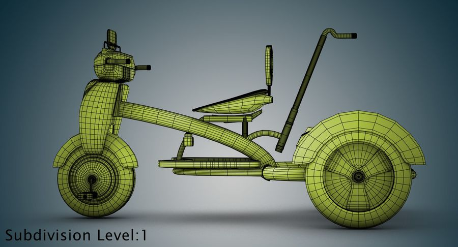 Kinderen driewieler royalty-free 3d model - Preview no. 33
