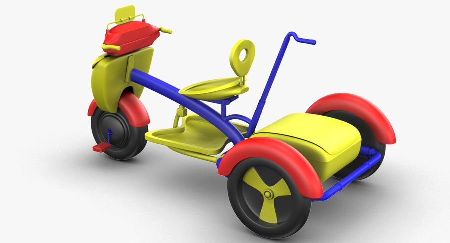 Kinderen driewieler royalty-free 3d model - Preview no. 8