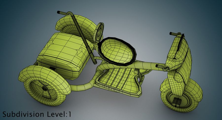Kinderen driewieler royalty-free 3d model - Preview no. 34