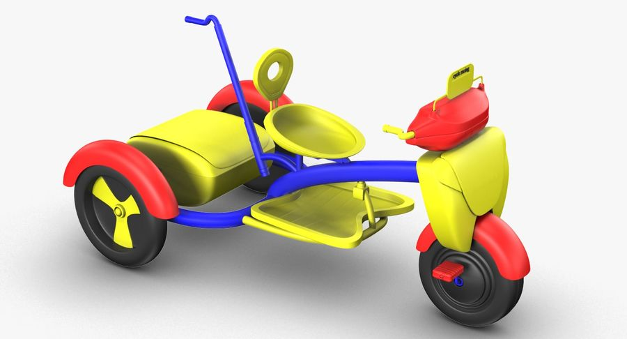 Kinderen driewieler royalty-free 3d model - Preview no. 7