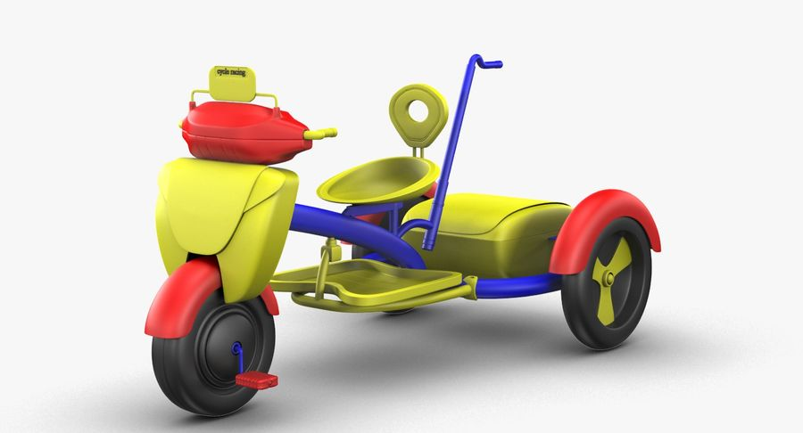 Kinderen driewieler royalty-free 3d model - Preview no. 6