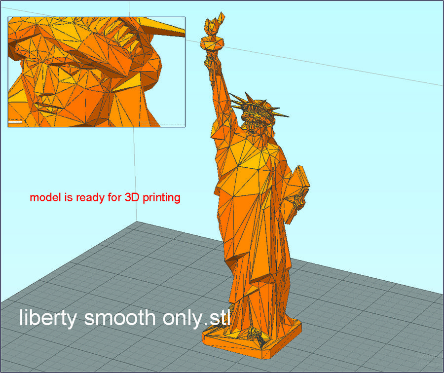 自由の女神LOW POLY royalty-free 3d model - Preview no. 41