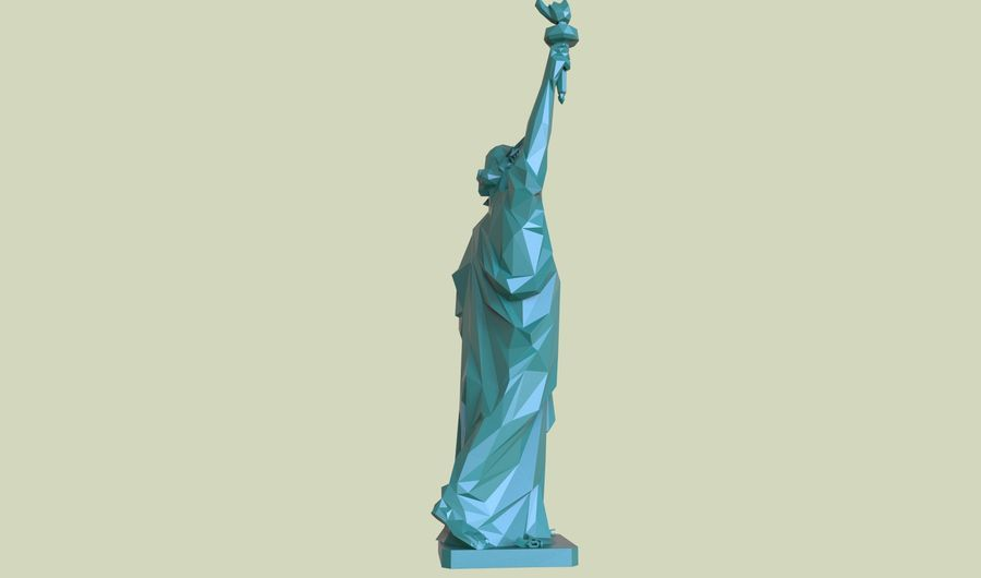 Statue of Liberty LOW POLY royalty-free 3d model - Preview no. 10