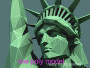 Statue of Liberty LOW POLY 3d model