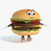 Hamburger Charakter 3d model