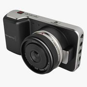 Cámara de cine Blackmagic Pocket modelo 3d
