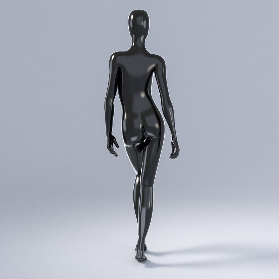 Female mannequin 3 royalty-free 3d model - Preview no. 8