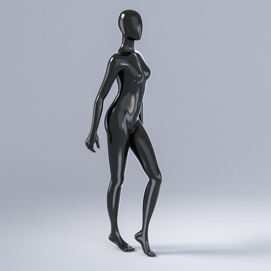 Female mannequin 3 royalty-free 3d model - Preview no. 4