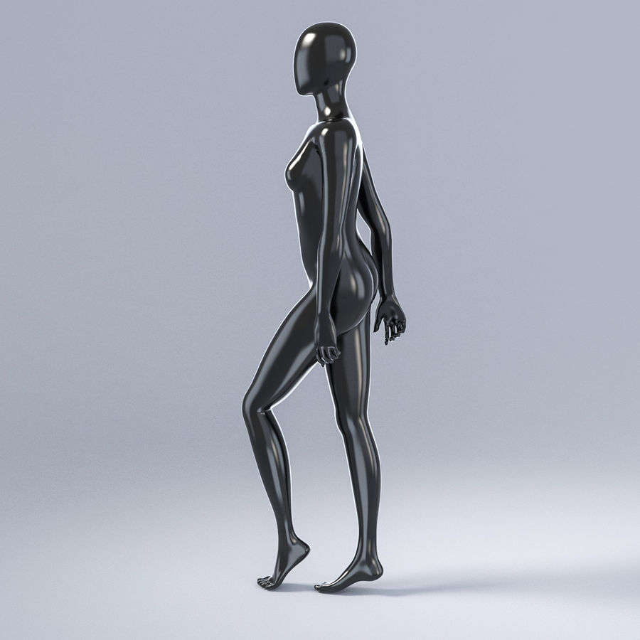 Female mannequin 3 royalty-free 3d model - Preview no. 10