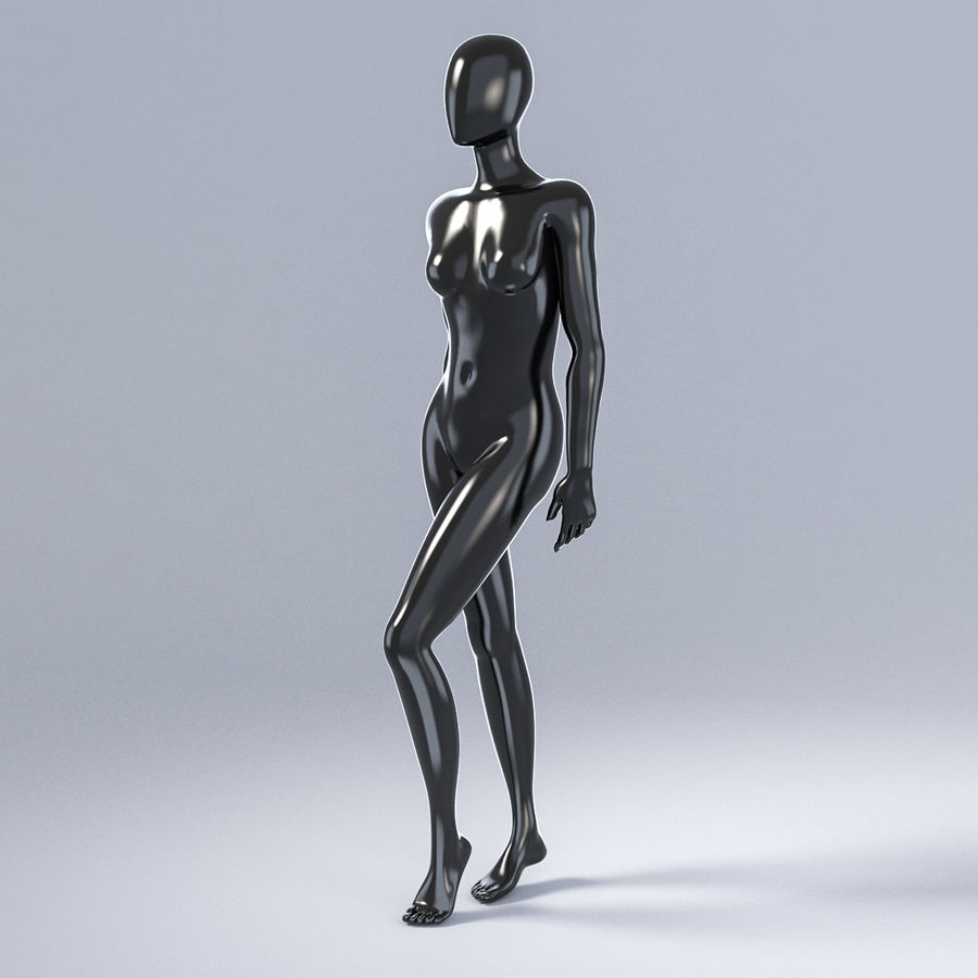 Female mannequin 3 royalty-free 3d model - Preview no. 12