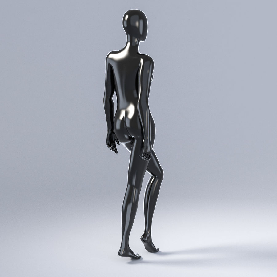 Female mannequin 3 royalty-free 3d model - Preview no. 6