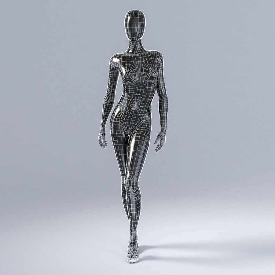 Female mannequin 3 royalty-free 3d model - Preview no. 3
