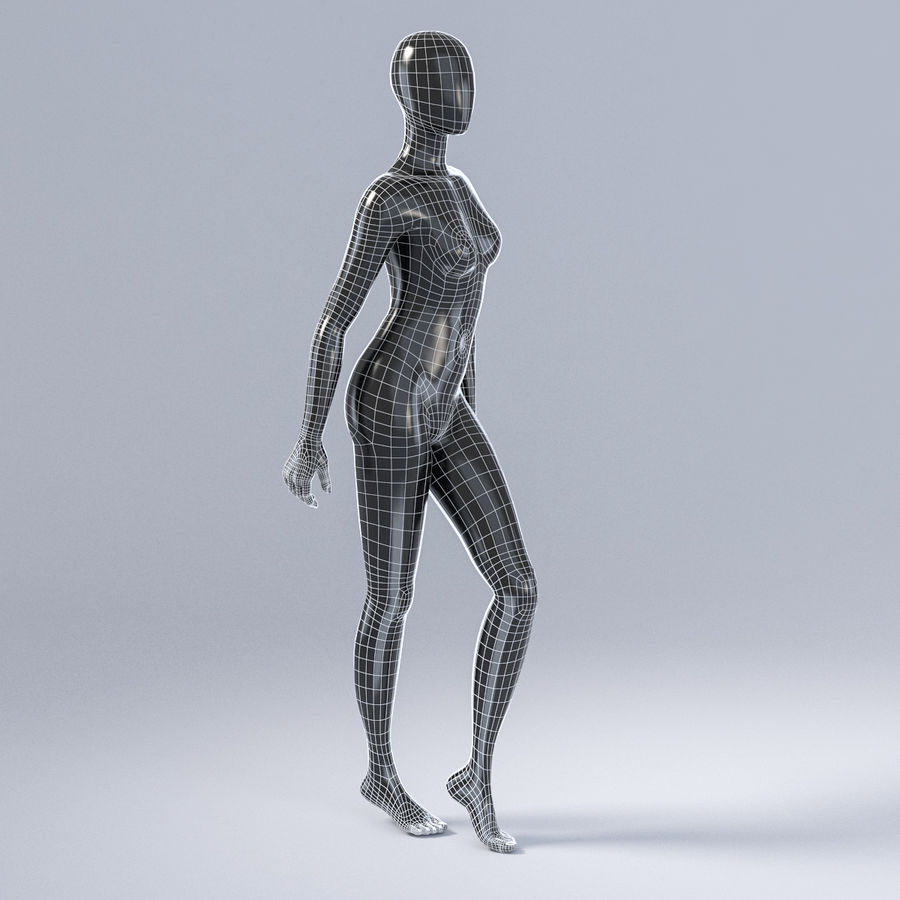 Female mannequin 3 royalty-free 3d model - Preview no. 5