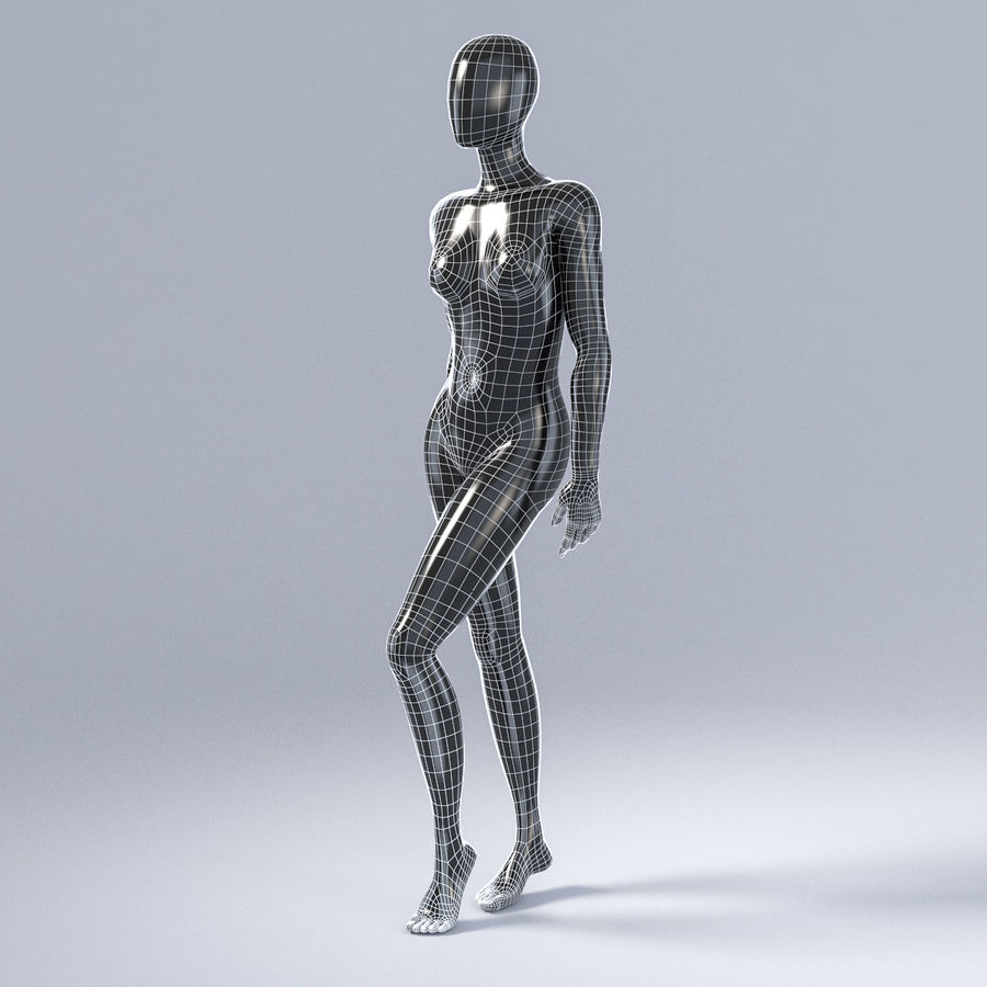 Female mannequin 3 royalty-free 3d model - Preview no. 13