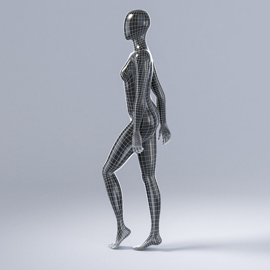 Female mannequin 3 royalty-free 3d model - Preview no. 11