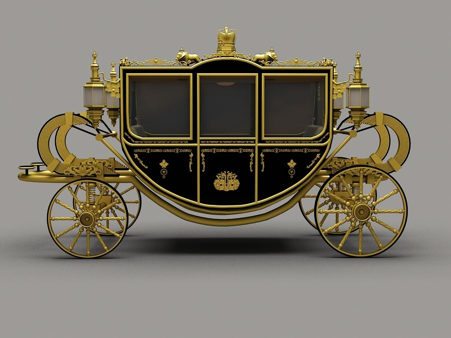 Carriage royalty-free 3d model - Preview no. 5