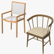 Chaises de patio 3d model