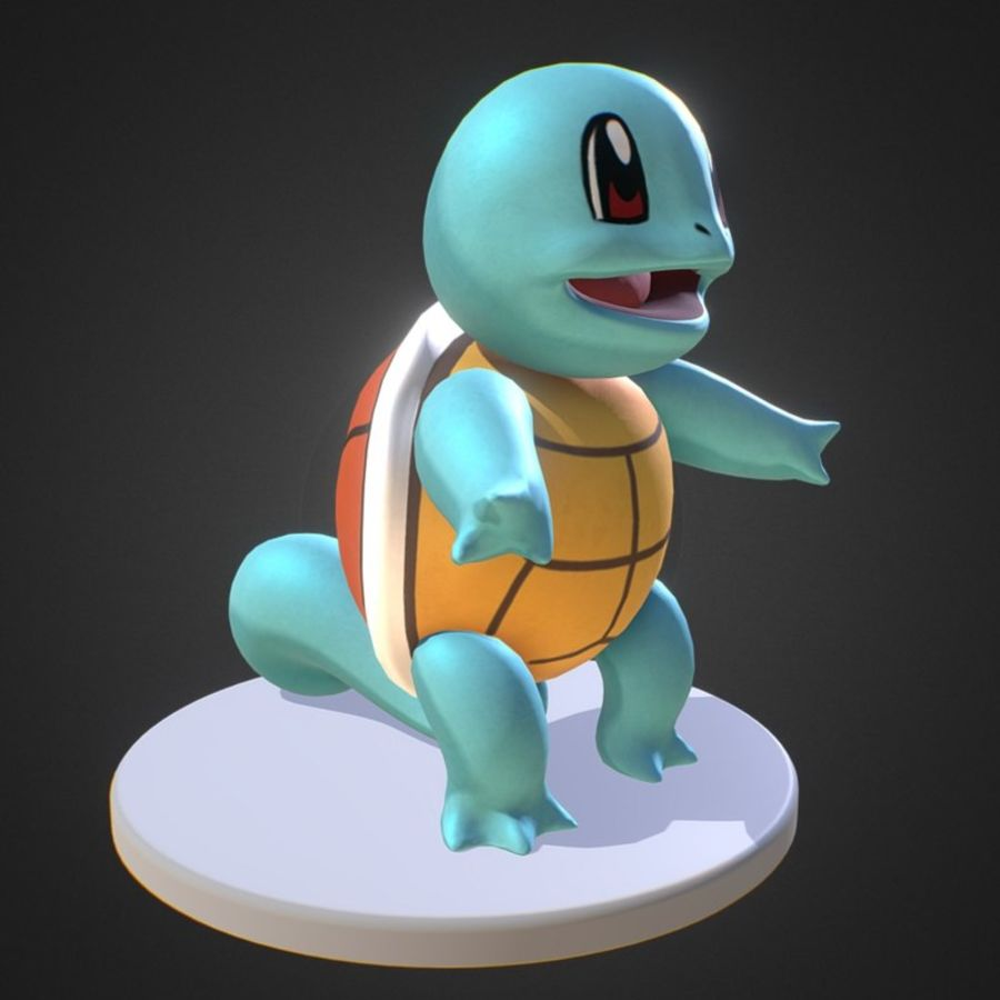 Squirtle Pokemon royalty-free 3d model - Preview no. 1