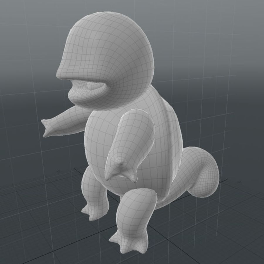 Squirtle Pokemon royalty-free 3d model - Preview no. 9