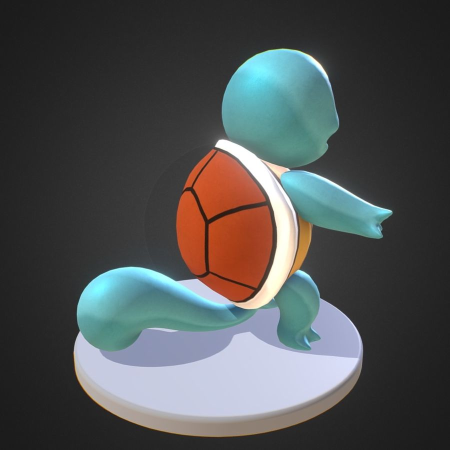 Squirtle Pokemon royalty-free 3d model - Preview no. 3
