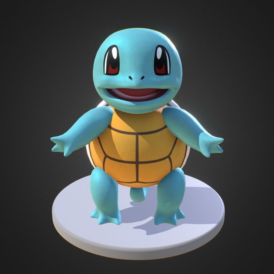 Squirtle Pokemon royalty-free 3d model - Preview no. 2