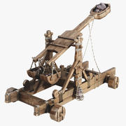 Catapult Low Poly 3d model