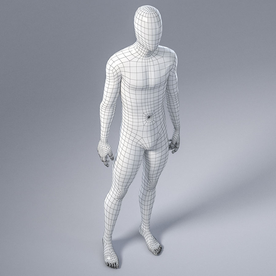 Male mannequin 4 royalty-free 3d model - Preview no. 17