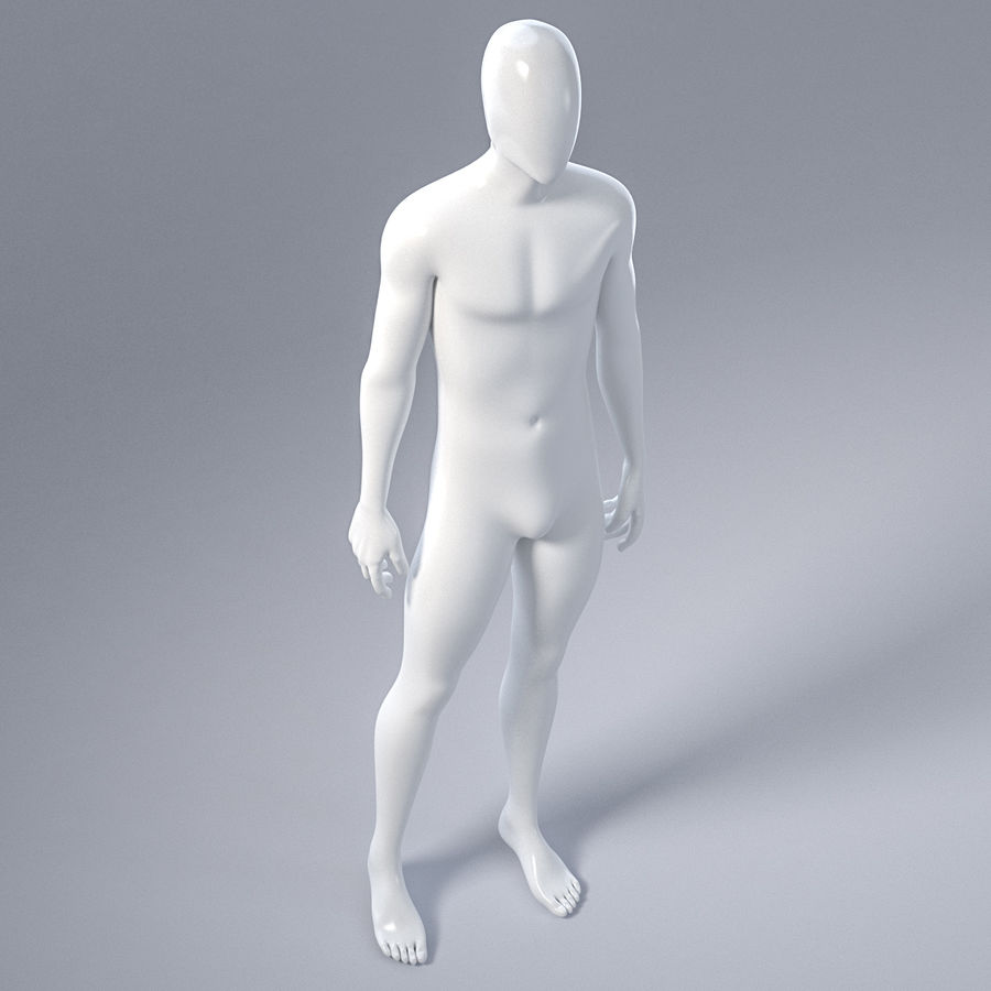 Male mannequin 4 royalty-free 3d model - Preview no. 16